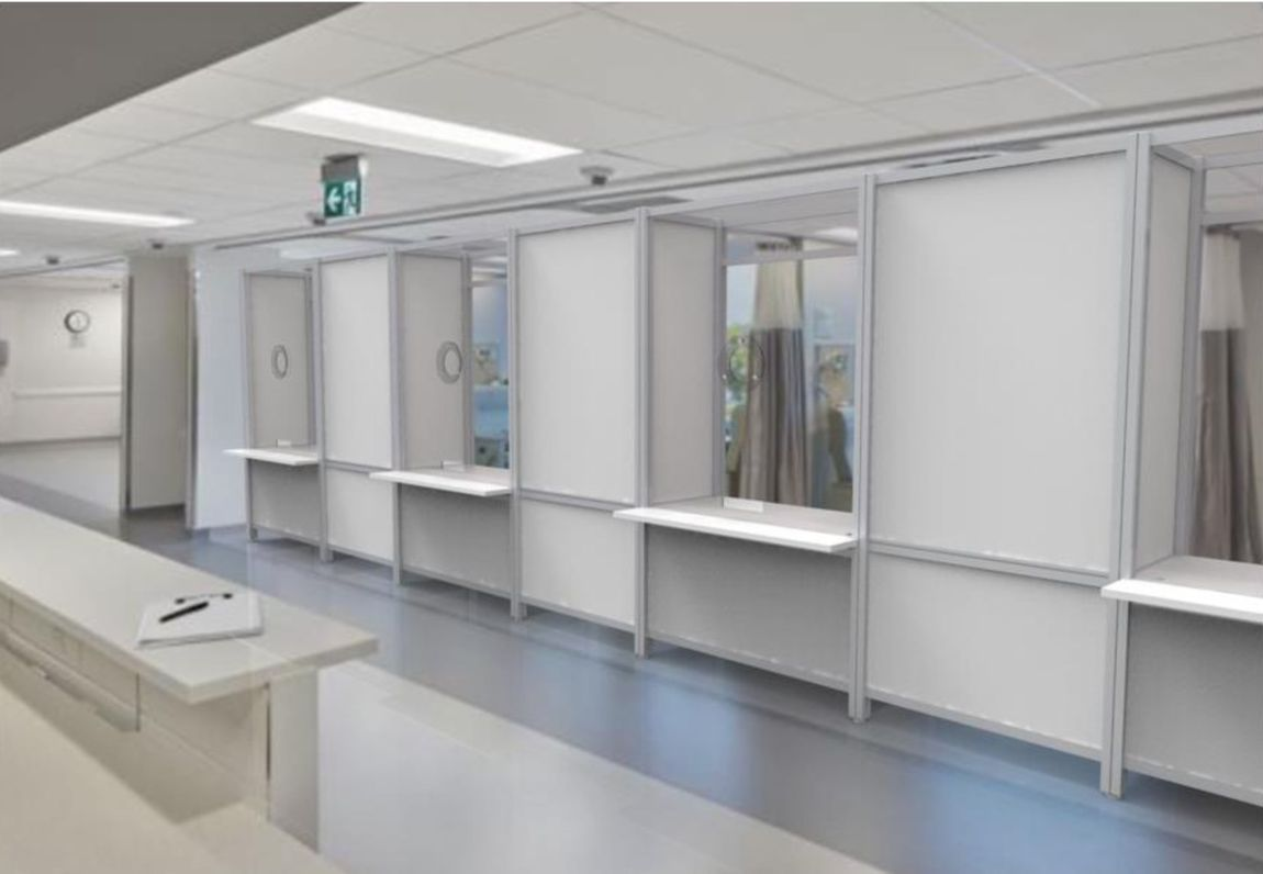 Connected Coronavirus Assessment Booths with Spacer Panels