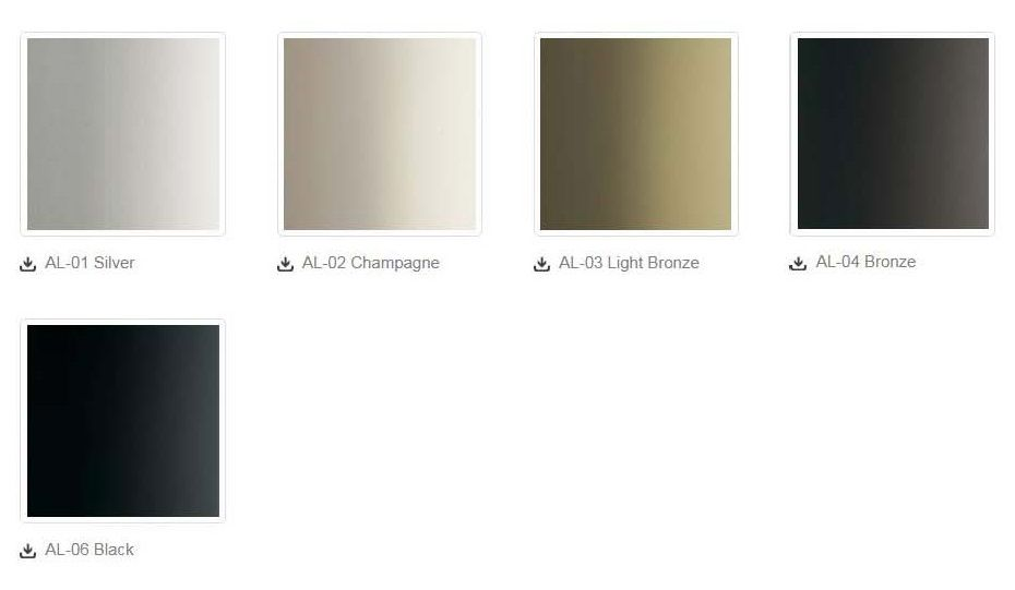 Anodized Aluminum Options