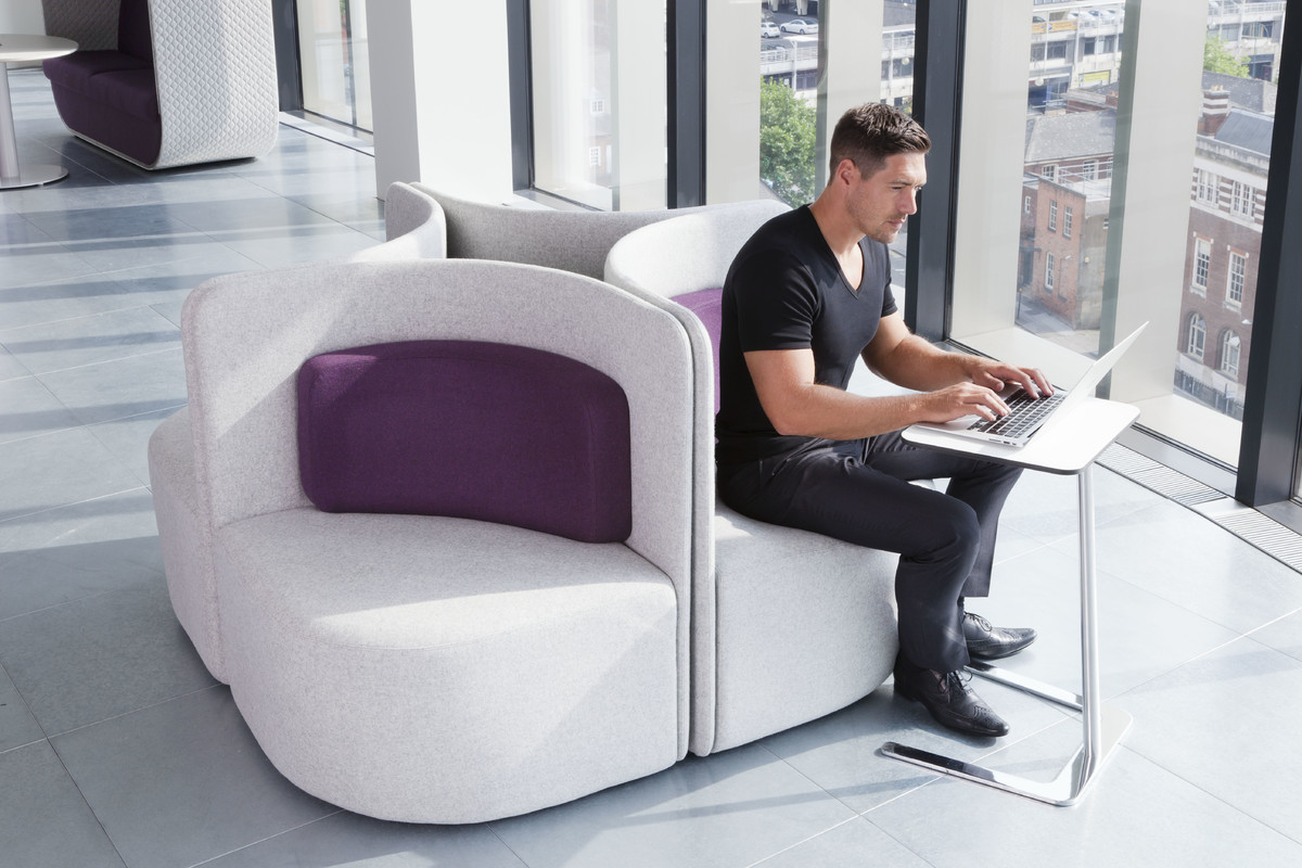 High Back Acoustic Lounge Furniture