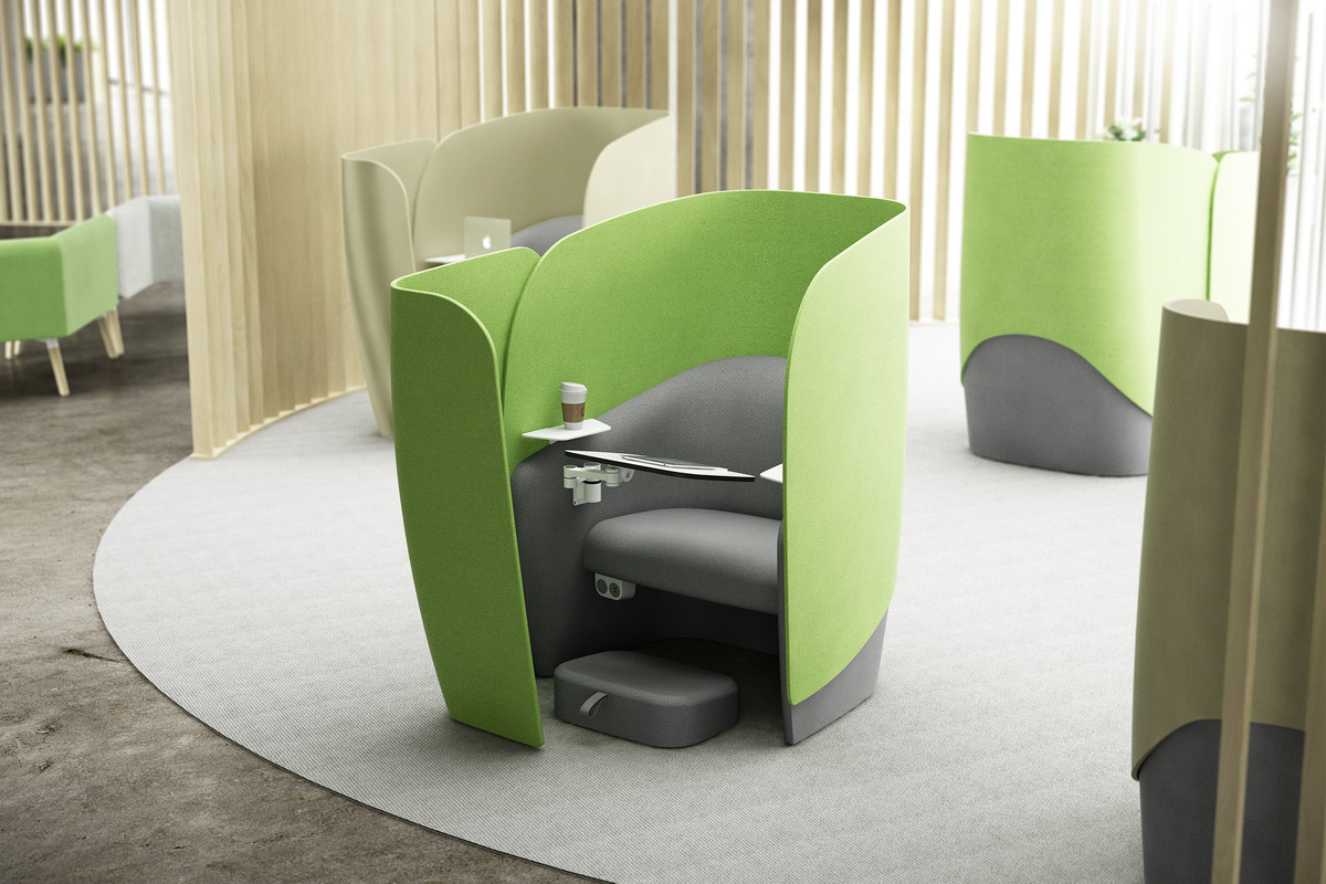 Acoustic Social Distancing Furniture