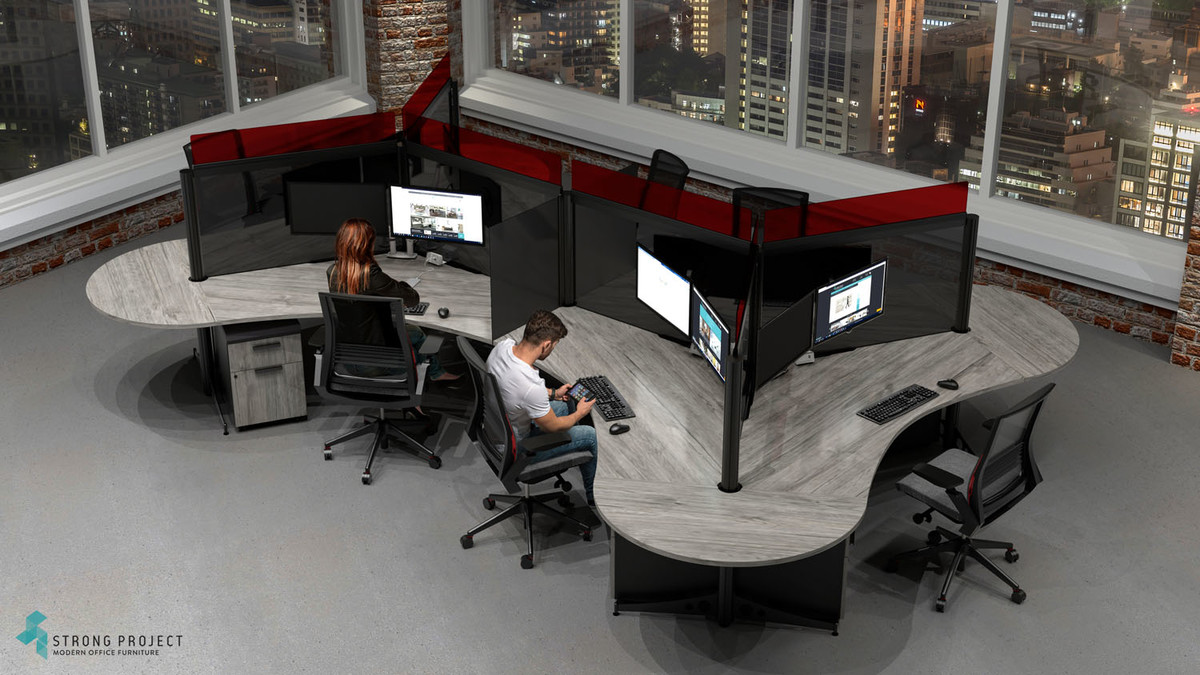 Modern Cubicles with Social Distancing Screens