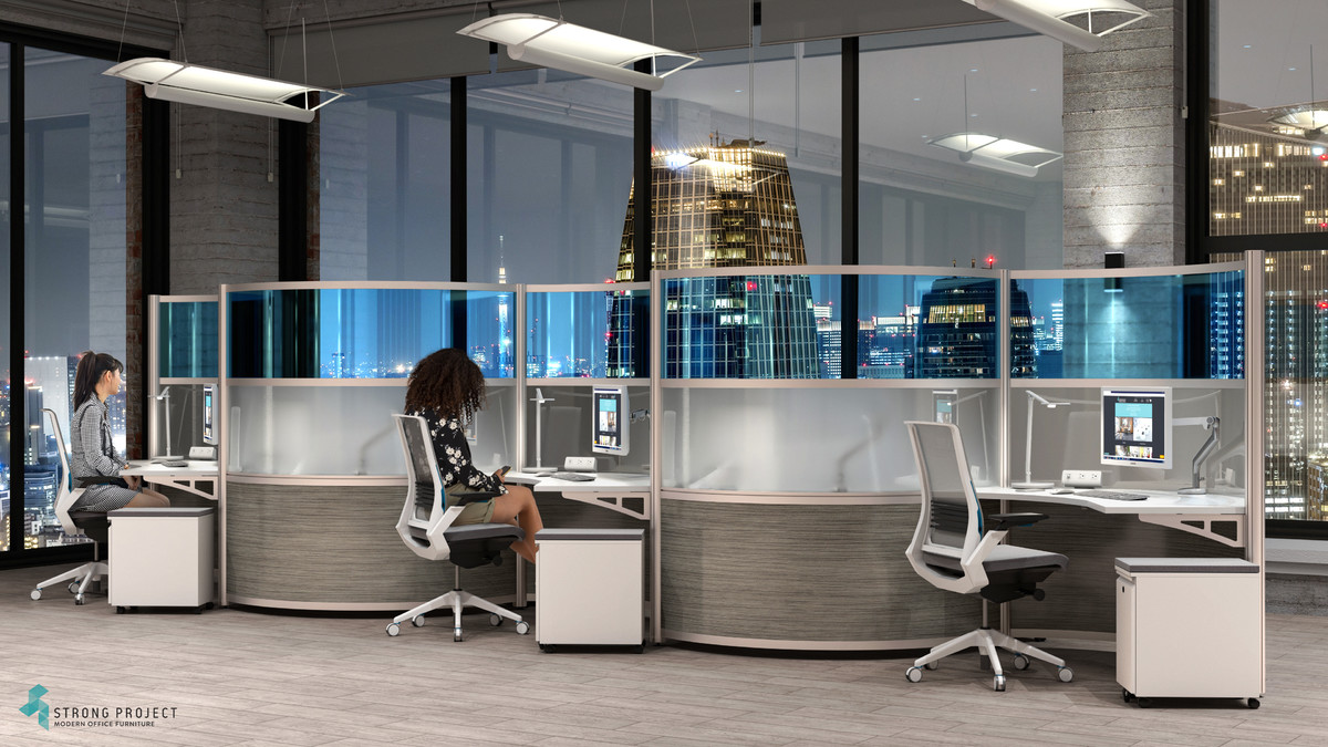 Social Distancing Cubicles with Modern Style