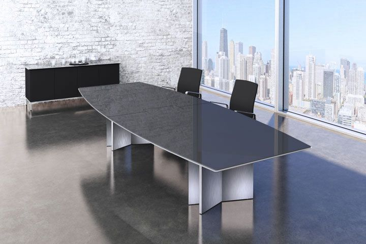 Black Glass Conference Tables