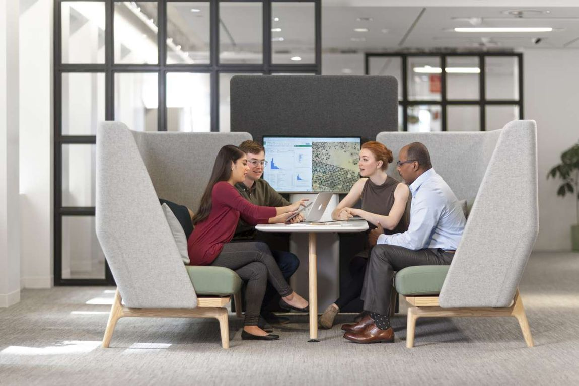 High-Back Collaborative Seating Pods