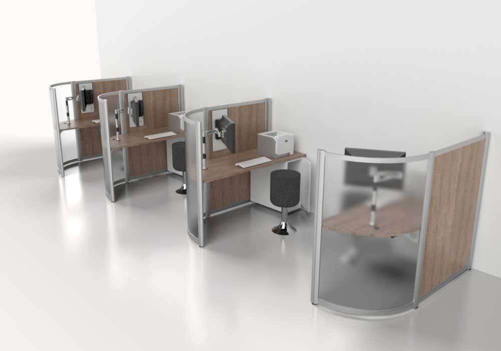 Custom Small Touchdown Workstations