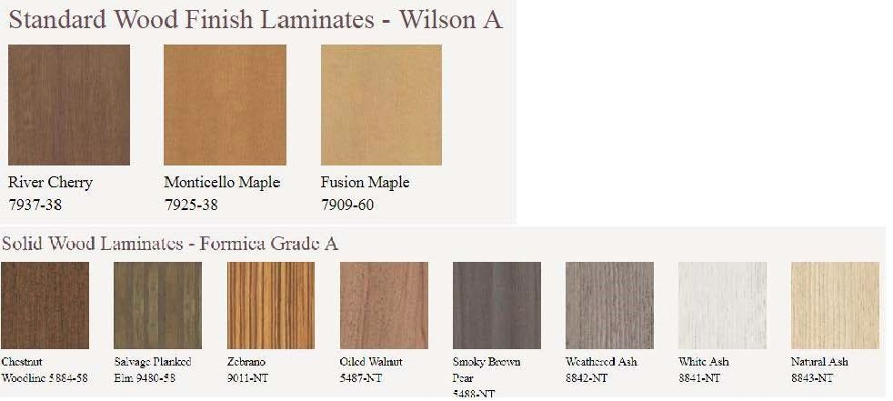 Standard Laminate Options