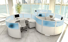 Custom Desks and Custom Workstations are for businesses wanting a unique modern office furniture design to reflect their brand
