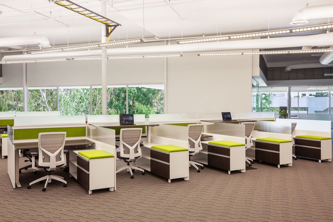Modern Sit Stand Office Cubicles