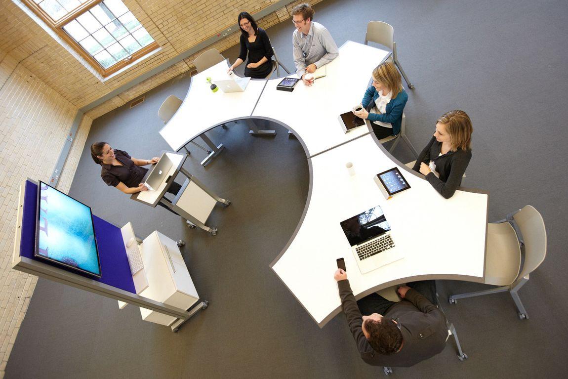 Modern multipurpose tables training room nesting for Modern tech office