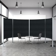 Curved Acoustic Privacy Screens