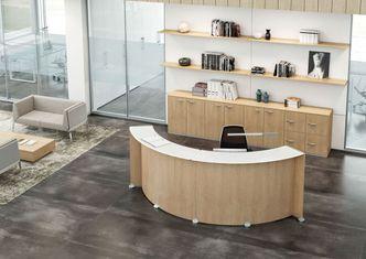 curved reception desks