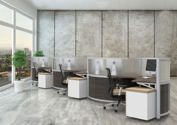 Modern Curved Workstations