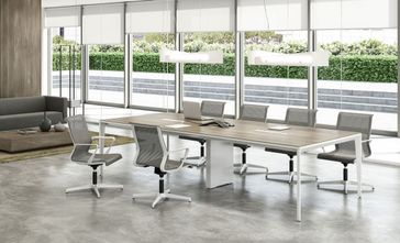 Modern Industrial Conference Table Shapeyourmindscom - Contemporary modern conference table