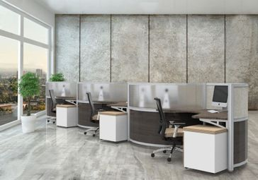 modern office cubicle design. Modern Curved Workstations Office Cubicle Design