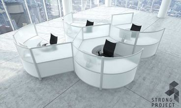Modern Cubicles - Curved Workstations