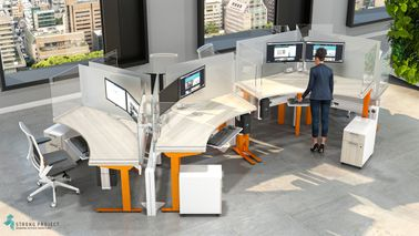 Sit-Stand Social Distancing Workstations