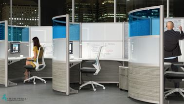 Modern Curved Workstations with High Privacy Screens