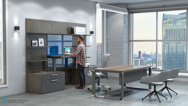 Height-Adjustable Desks and Complimentary Storage