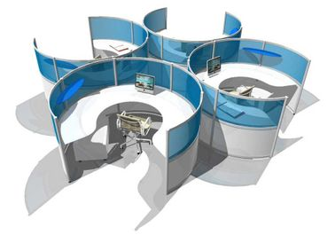 Circular Workstations - Creative Office Space Furniture