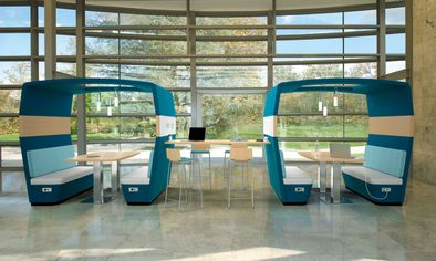 Collaborative Open Office Lounge Enclaves