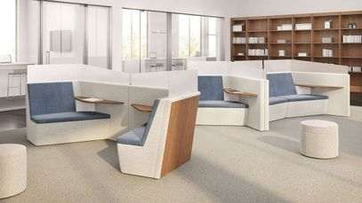 Open Office Private Workspace Pods