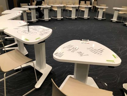 Mobile Training Tables for Social Distancing