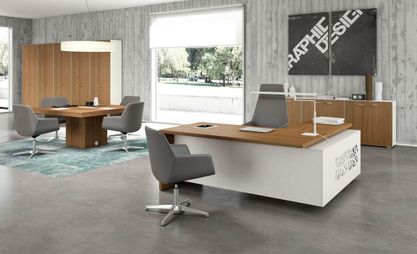 Unique Office Desks & Modern Office Desks - Glass Desks Executive Office Furniture