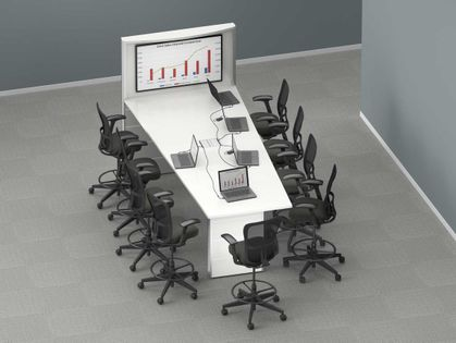 Conference Tables with Laptop Sharing Technology