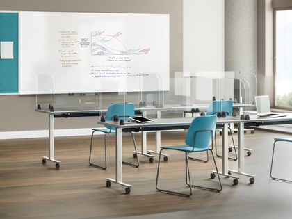 Training Room Table Privacy Screens