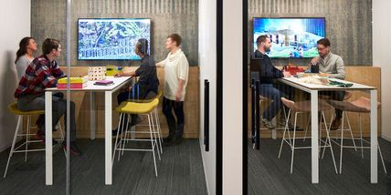 Collaborative Bar-Height Huddle Room Tables