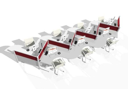 Zig-Zag Workstations and Custom Modern Office Furniture