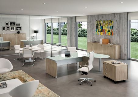 Modern Glass Executive Desks