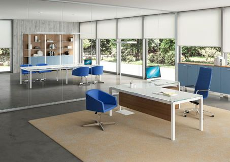 White Glass Office Desks