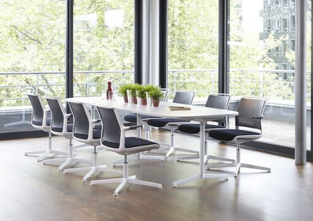 Contemporary Conference Table and Chairs