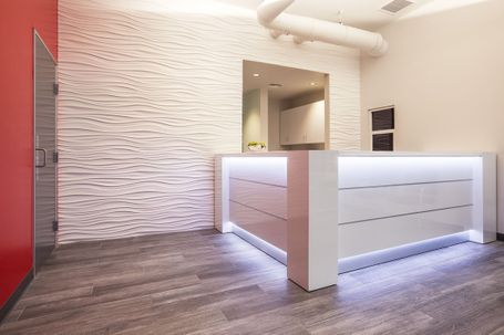 Modern Reception Desks with LED Lighting