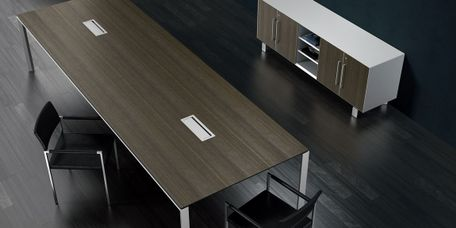 Contemporary Conference Table with Integrated Power, Data, HDMI