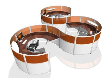 Curved Workstations – Custom Modern Office Furniture