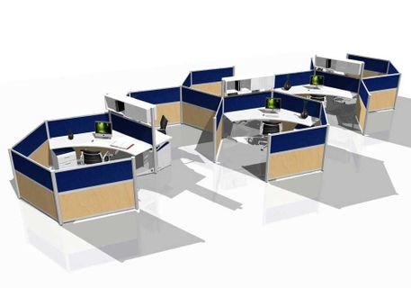 Creative Office Space Furniture – Custom Cubicles