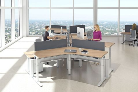 Sit Stand Office Cubicles