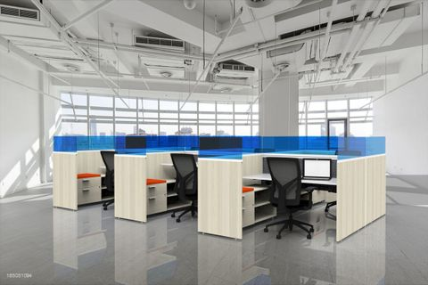 Office Cubicles with Desk Privacy Partitions