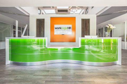 Curved Modern Reception Desks