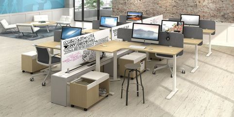 Adjustable Height Cubicles And Sit Stand Desks