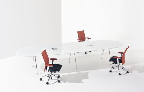 White Glass Conference Tables