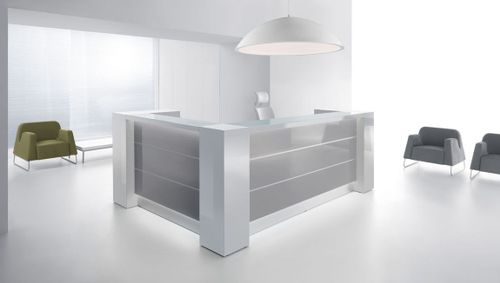 white modern office. office reception desks white modern