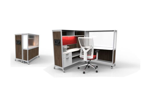 Movable Workstations and Mobile Office Furniture