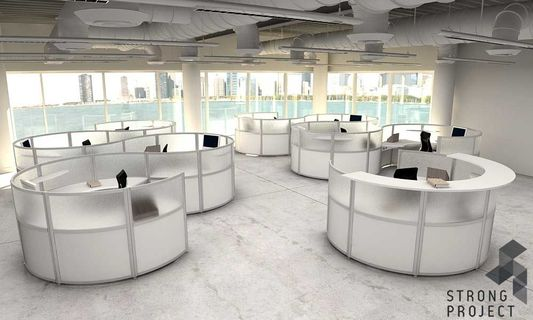 Futuristic Office Cubicles