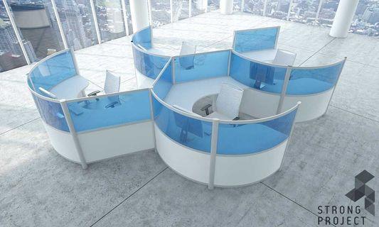 Futuristic office furniture Classroom Neginegolestan Curved Workstations Futuristic Office Furniture