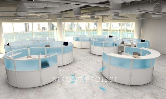 Round Reception Desks
