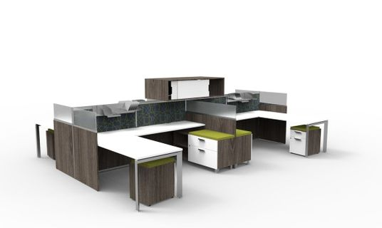 Managerial Open Plan Workstations