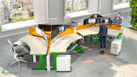 Modern Cubicle Design – Colorful Cubicles